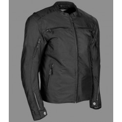 Roger textile riding jacket Black