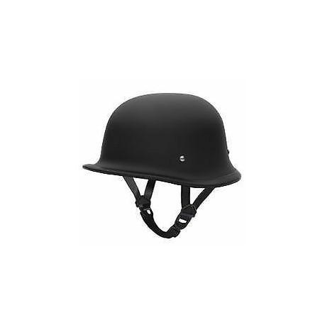 German Style World's Smallest, Lightest DOT Helmet Black