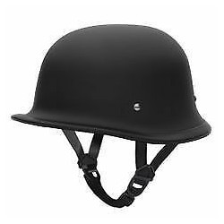 German Style World's Smallest, Lightest DOT Helmet Black