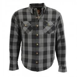 Men's Armored Checkered Flannel Biker Shirt w/ Aramid® by DuPont™ Fibers