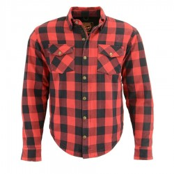Men's Armored Checkered Flannel Biker Shirt w/ Aramid® by DuPont™ Fibers