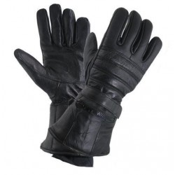 Gauntlet gloves with lining