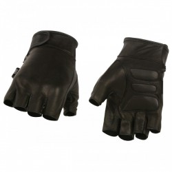 Fingerless gloves one piece leather