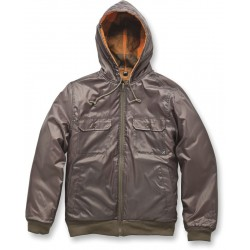 MIRA COSTA Textile Jacket Army Green / Orange