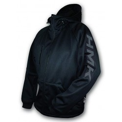 HOODED TECH SHELL Black LOGO