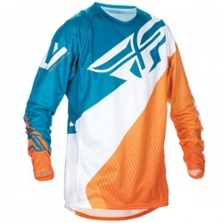 FLY RACING EVOLUTION JERSEY MENS ORANGE / DARK TEAL
