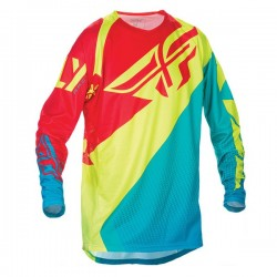 FLY RACING EVOLUTION JERSEY MENS TEAL / HIGH VISIBILITY / RED