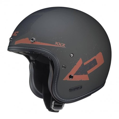 IS-5 Arrow Helmet flat blk /orange HJC
