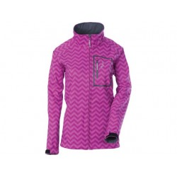 DSG SOFTSHELL JACKET - CHEVRON ORCHID