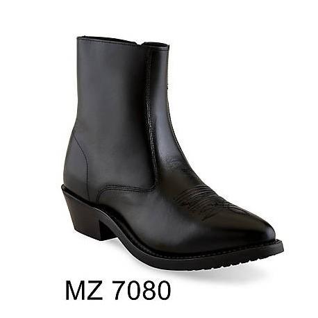 OLD WEST Men's Zipper Western Ankle Boot - Mz7080