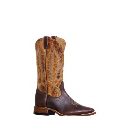 Apache Moka / Lone Star Cognac Wide square toe by BOULET