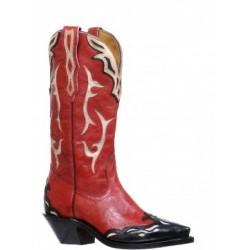 Deerlite Red Snip toe boot by Boulet