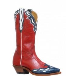 Deerlite Red / Blue-white snip toe Ladies boot by BOULET