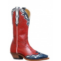 Deerlite Red / Blue-white snip toe Ladies boot by BOULET