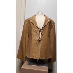 Ladies tiedown leather jacket Honey
