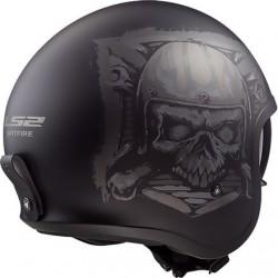 Spitfire Skull rider helmet matte LS2