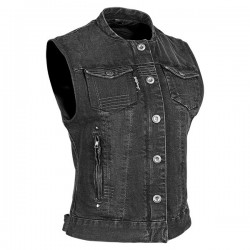 GLORY DAZE™ Ladies DENIM VEST Black by Speed & Strength