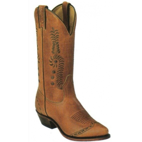 New Ladies Boulet 6126 Tan leather leather cowboy boots