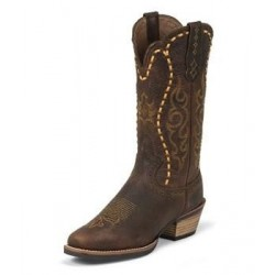 Women's Justin Boot Silver Collection Copper Kettle Buffalo - SVL7313