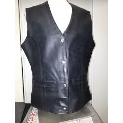 Women's Plain, longer length vest 6480