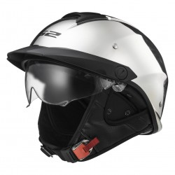 LS2 Rebellion Half Helmet Solid chrome
