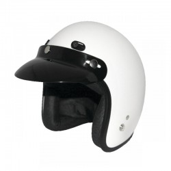 Kid's White Open Face Helmet CLASSIC JUNIOR