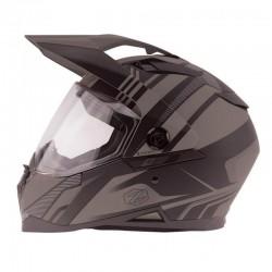 Dual sport Helmet Z-DS10 STITCH Matte Dark Silver