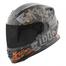 Bikes Are In My Blood® SS1310 HELMET Black Grey Rust