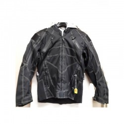 Mens Textile riding jacket with zip out hoody