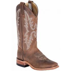 Canada West 4132 Dark Brown Crazy Horse Ladies' BRAHMA® Ropers