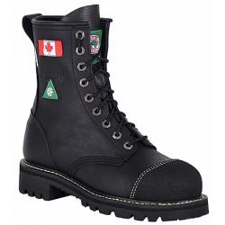 Ladies Canada West 6211 Black Loggertan Steel-Toe Work Boots
