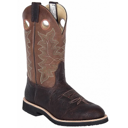 Canada West 7024 Brown Oiled Bullhide / Alamo Tan Men's Brahma Spongy Ropers