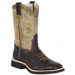 Canada West 7025 Brown Oiled Bullhide / Beirut Verde Men's Brahma Spongy Ropers