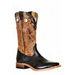 Boulet 9396 Shoulder Black Wide Square Toe Boots
