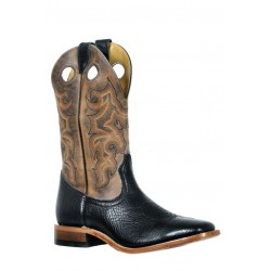 Boulet 9339 Shoulder Black Wide Square Toe Boots