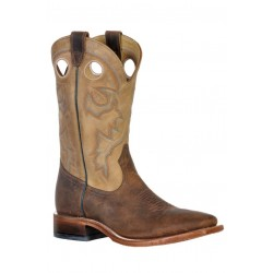 Boulet 9319 HillBilly Golden Wide Square Toe Boots
