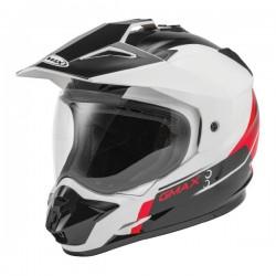 GM11 Vertical Dual Sport SCUD white/ red / black