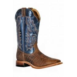 Boulet 9384 Safari Cognac Wide Square Toe Boots
