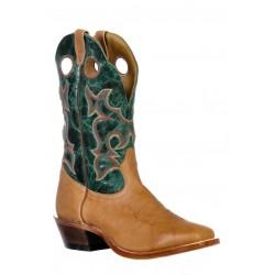 Boulet 9368 Deerlite Butterscotch Faraon Turqueza Vintage Square Toe Boots