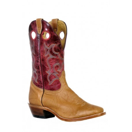 Boulet 9369 Faraon Magenta Vintage Square Toe Boots
