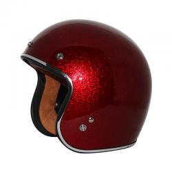 Zox ROUTE 80 VINTAGE Metal Flake Red Helmet