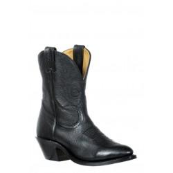 Boulet 8249 Ladies Sporty Black Deer Tan Medium Cowboy Toe Boots
