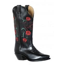 Boulet 9386 Ladies Tianjin Black Snip Toe Boots