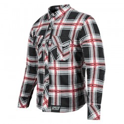 Rust And Redemption™ ARMOURED MOTO SHIRT Black / Red