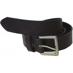 "GENUINE Cowhide LEATHER CANADIAN MADE BELT PLAIN 40MM (1-1/2"") - Black"