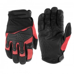 HAMMER DOWN™ LEATHER / MESH GLOVES red