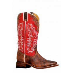 Boulet 8239 Shrunken Bomber Deerlite Red Wide Square Toe Boots