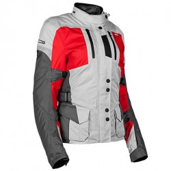 Joe Rocket Ladies Ballistic 14.0 Jacket silver / red / Grey