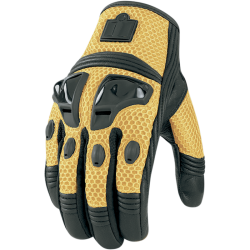 ICON JUSTICE MESH 2XL YELLOW GLOVE