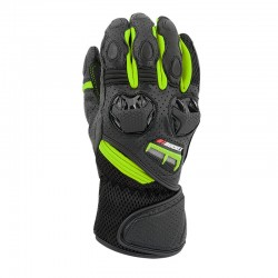 Highside Leather/Mesh Gloves Hivis / Black